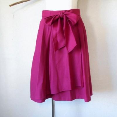レッセパッセ LAISSE PASSE 秋冬 向き サッシュ リボン 付 巻き風 スカート 日本製 38