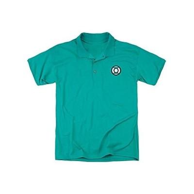 Trevco Jla Embroidered Lantern Mens Regular Fit Polo Tee Kelly Green Xl