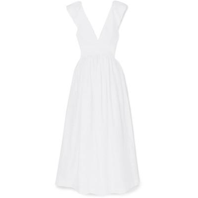 KALITA ロングワンピース&ドレス ホワイト L リネン 100% ロングワンピース&ドレス