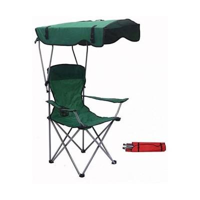 折りたたみ式キャンプチェア、カップアームキャノピー付きフィッシングサンシェードビーチチェア軽