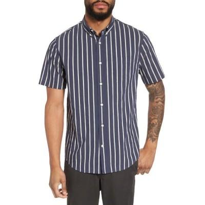 ヴィンス メンズ シャツ トップス Regular Fit Stretch Short Sleeve Sport Shirt NEW COASTAL