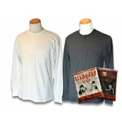 """全2色GLAD HAND/グラッドハンド「Pack Tee""""Standard Henry Pocket Long Sleeve T-Shirts""""/パ"""