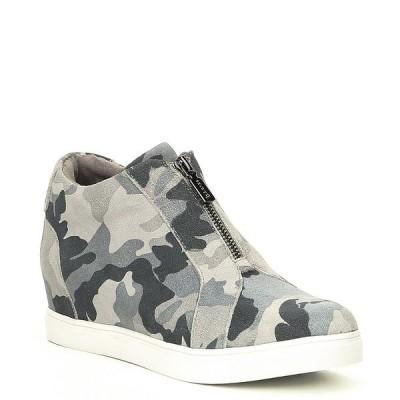 ブロンド レディース サンダル シューズ Glenda Suede Printed Wedge Sneakers Grey Camo