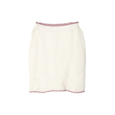 dazzlin オールドローズニットスカート オフホワイト