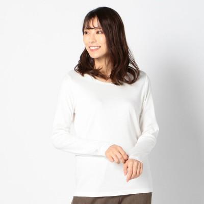 レディース 【在庫限り】ぱちぱちしないクルーネックTシャツ オフ LL