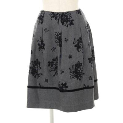 エムズグレイシー スカート ウール フラワーモチーフ 花柄 36