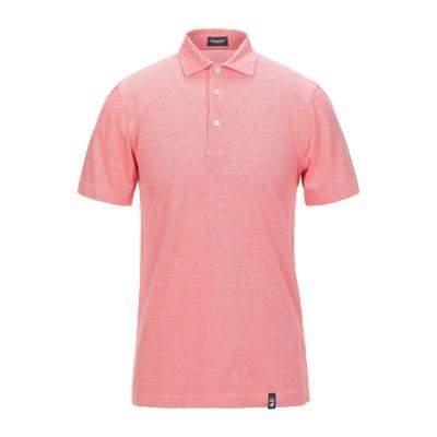 ドルモア DRUMOHR ポロシャツ コーラル M コットン 100% ポロシャツ