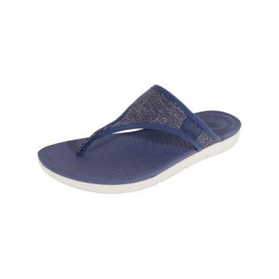レディース 靴 コンフォートシューズ Fitflop Womens Uberknit Toe Thong Sandal Shoes
