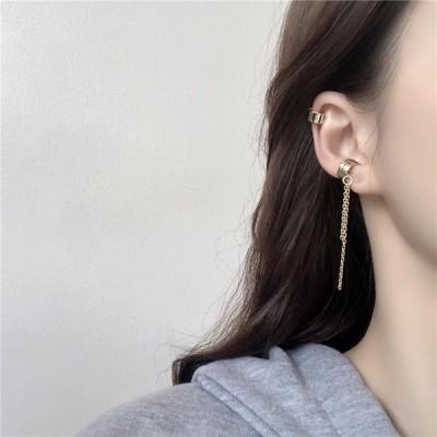 レディース タッセルイヤーカフ 韓国風 タッセルチェーンイヤーカフ 軟骨イヤーカフ 可愛いデザイン おしゃれなデザイン