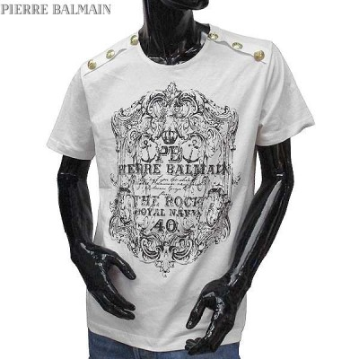 【送料無料】 ピエールバルマン(Pierre Balmain) メンズ クルーネック 半袖 Tシャツ HP66215T A6285 003  71S