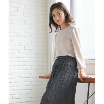 (Honeys/ハニーズ)ボリューム袖プルオーバー/レディース ベージュ