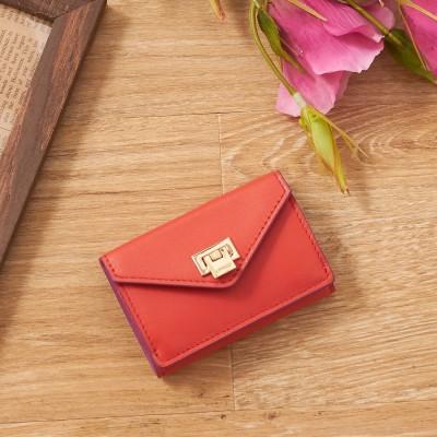 インターステイプル interstaple 薄型三つ折り財布 (ピンク)