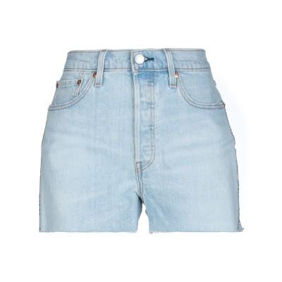 LEVI' S デニムショートパンツ ブルー 24 コットン 99% / ポリウレタン 1% / 革 デニムショートパンツ