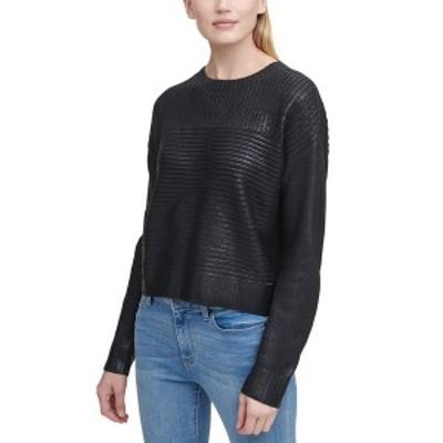 ダナ キャラン ニューヨーク レディース ニット&セーター アウター Ribbed Metallic Sweater Black