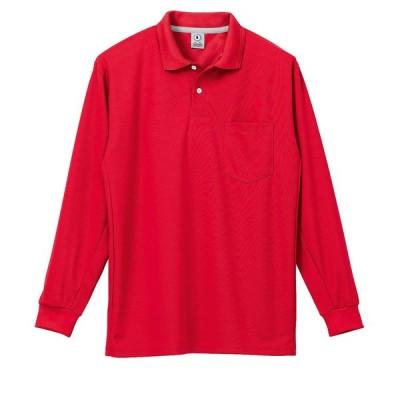 4L以上は200円アップ確認メールで単価変更しますKR:25446 制電吸汗速乾長袖ポロシャツ