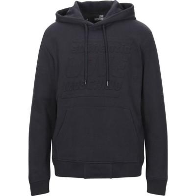 モスキーノ LOVE MOSCHINO メンズ パーカー トップス hooded sweatshirt Dark blue