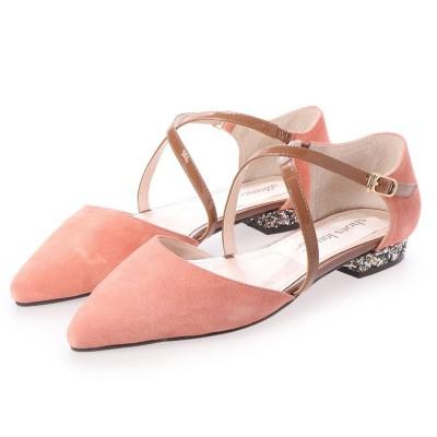 シューズラウンジ shoes lounge フラット シューズ 52MOD614A4PIN/C (ピンク)