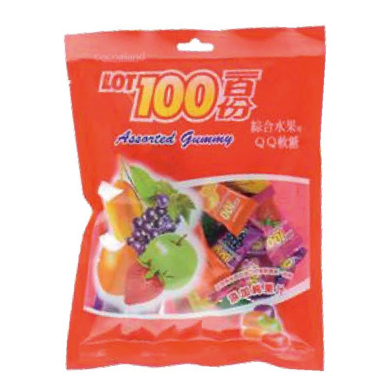 一百份綜合水果味QQ軟糖