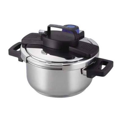 圧力鍋 IH対応 3層底 ワンタッチレバー[H-5388](シルバー  4.0L)