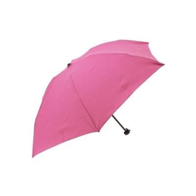 【アールエムストア】 雨晴兼用 ミニ長傘 シャンブレー生地 レディース ピンク フリー RM STORE