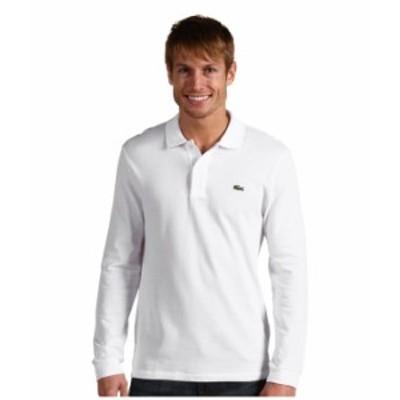 ラコステ メンズ シャツ トップス Long Sleeve Classic Pique Polo Shirt White