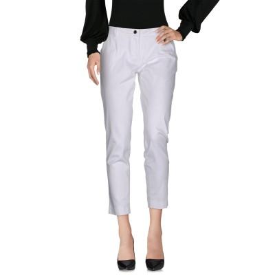 LUCKYLU  Milano パンツ ホワイト 40 97% コットン 3% ポリウレタン パンツ