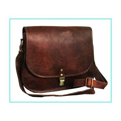 【新品】cuero 14 Inch Leather Crossbody Satchel Ladies Purse Women Shoulder Bag Tote Travel Purse Genuine Leather (brown)(並行輸入品)