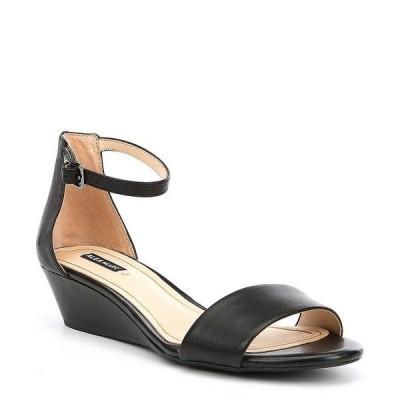 アレックスマリー レディース サンダル シューズ Mairitwo Leather Ankle Strap Wedge Sandals Black II