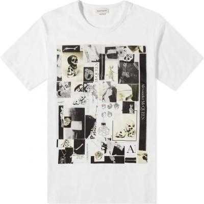 アレキサンダー マックイーン Alexander McQueen メンズ Tシャツ トップス Skulls Montage Print Tee White Mix