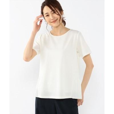 tシャツ Tシャツ バックプリーツプルオーバー