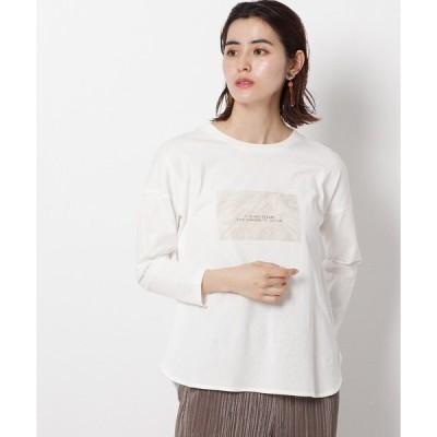 tシャツ Tシャツ マーブルプリント ロングTシャツ