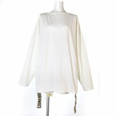 【中古】ホリデイ 19SS Tシャツ カットソー 長袖 テープ ロゴ 19101009  ホワイト 1 トップス レディース