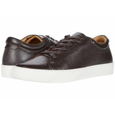 イレブンティ メンズ スニーカー シューズ Leather Tennis Sneaker Brown