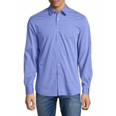 レポートコレクション Men Clothing Embroidered Cotton Button-Down Shirt