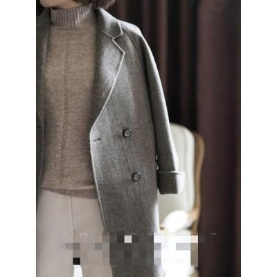 4色!アウター?チェスターコート ショートコート レディース ダボッと韓国ファッションで可愛い薄手のコートアウター チェスターコート 秋冬物 かわいい
