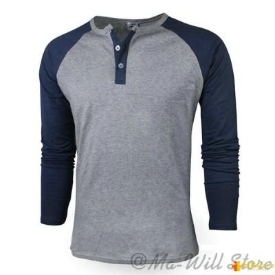 Tシャツ メンズ 長袖 クルーネック 無地 人気 大きいサイズ コットンカジュアル