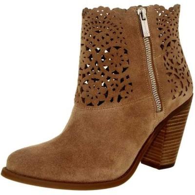 ブーツ シューズ 靴 長靴 ジェシカシンプソン Jessica Simpson レディース Cachelle スエード アンクル レザー ブーツ Warm Taupe