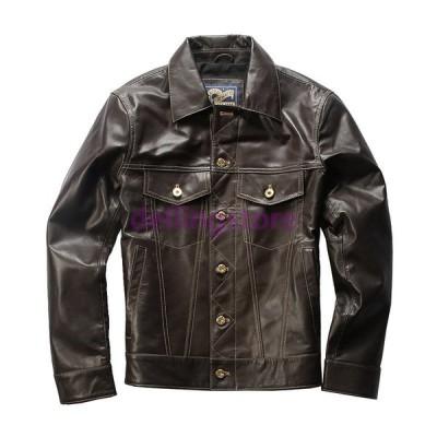 革ジャン メンズ 本革 レザージャケット バイクジャケット ライダースジャケット 革ジャケット 高級羊革