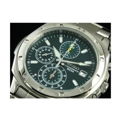 SEIKO SND411PC メンズ腕時計 海外モデル クロノグラフ グリーン