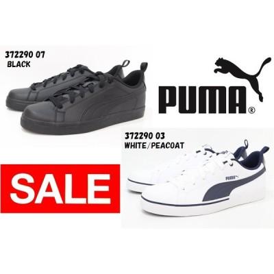 メンズ スニーカー プーマ コートシューズ Puma Break Point Vulc 372290 07 BLACK 03 WHITE/PEACOAT