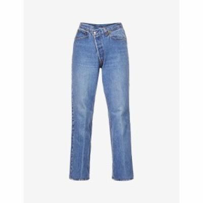 EBデニム EB DENIM レディース ジーンズ・デニム ミドルライズ レギュラー ストレート Upcycled Cross Over Straight-Leg Mid-Rise Jeans