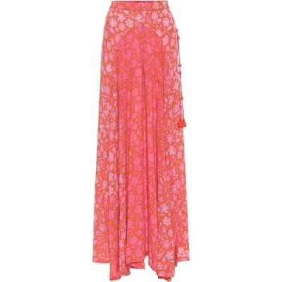 プーペット セント バース Poupette St Barth レディース ロング・マキシ丈スカート スカート Ollie printed maxi skirt Orange Egypt