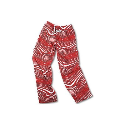 フットボール NFL USA アメリカ Zubaz Zebra パンツ red グレー
