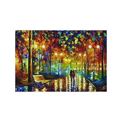 Agirlgle Jigsaw Puzzles 1000 Pieces for Adults for Kids-Rainy Night Walk,Ev