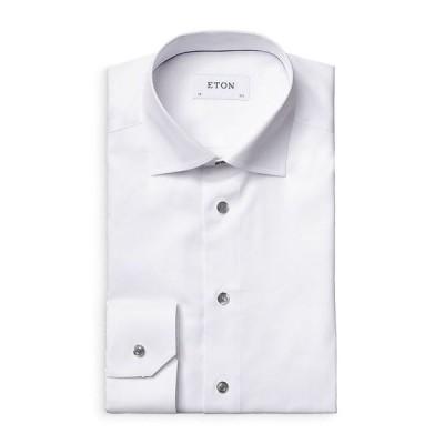 エトン メンズ シャツ トップス Twill Contemporary Fit Dress Shirt