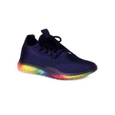 ウォンテッド スニーカー シューズ レディース Women's Felicity Stretch Knit Sneakers Navy