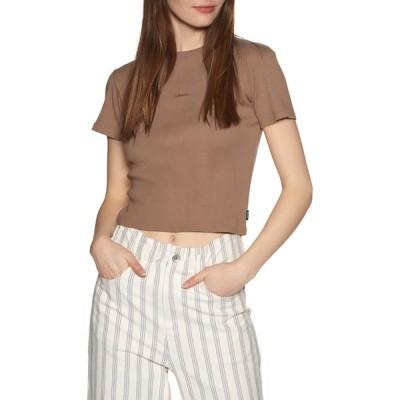 アフェンズ Afends レディース Tシャツ トップス juliette rib short sleeve t-shirt Clay