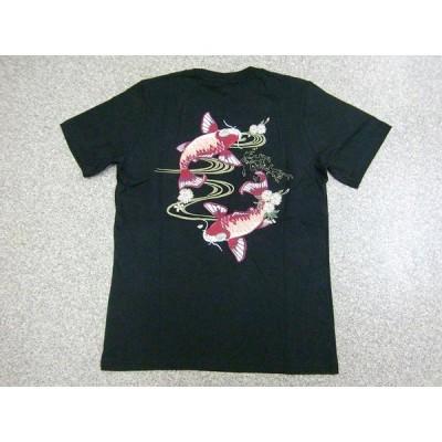 Tシャツ 鯉 半袖Tシャツ 和柄 刺繍 メンズ スカT コイ アメカジ 是空 スカジャン メール便可能 激シブ 激レア かっこいい 夏