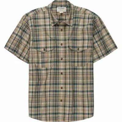 フィルソン シャツ Filson Short Sleeve Feather Cloth Shirt Khaki / Olive / Blue Plaid