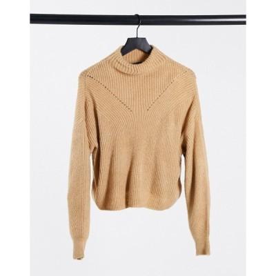 エイソス レディース ニット・セーター アウター ASOS DESIGN boxy high neck sweater in camel